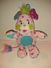 "Popples Polka Dot Dottie Doll 12"" Plush Stuffed Pink Purple 2001"