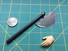 """1:6 Scale Fantasy  """"Battle Axe"""" Custom Steel  Miniature By Auret"""