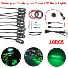 10PCS 4LED Rock Light Underbody Green Fog Lamp For Jeep Suv Boat ATV Motorcycle