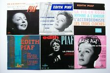 Lot 6x45 tours Edith Piaf