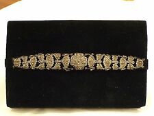 ANTIQUE VINTAGE COLLECTIBLE VELVET CLUTCH HAND MADE FROM 1950s
