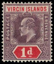 "VIRGIN ISLANDS 30 (SG55) - King Edward VII ""Keyplate"" (pb11435) NH"