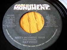 "RAY PRICE - MISTY MORNING RAIN  7"" VINYL"
