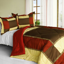 [Warm Dream] Quilted Patchwork Down Alternative Comforter Set (Twin Size)