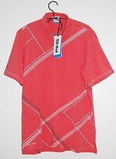 NWT PING Men's Sensor Cool Bump & Run Coral Red SS Golf Polo, Size Medium
