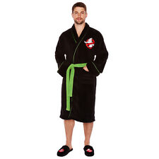 Ghostbusters Herren Fleece Bademantel No Ghosts Bath Robe Morgenmantel neu