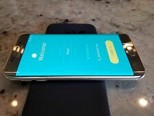Samsung Galaxy S6 edge SM-G925A 64GB Gold AT&T Clean ESN Used 4G LTE smartphone
