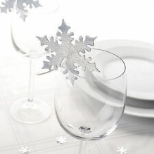 Snowflake Christmas Table Place Cards