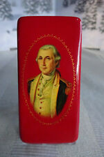 Rare George Washington Russian Lacquer Box by Berta Kuznetsova COA Included