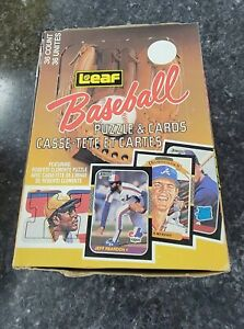 1987 Leaf Unopened Wax Box (36 packs) Maddux/Bonds/Jackson/McGwire ROOKIES! RC!