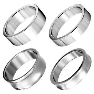 Ring aus Edelstahl klassischer schlichter Bandring Männer Frauen Unisex silber