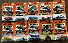 Matchbox Lot 10 Cars 1998 Series New in Box 65 Mustang Raft Seaplane SkiBoat 959