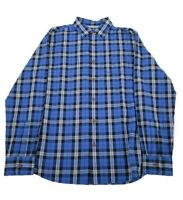 Grayers NWT Sport Shirt Size L In Shades of Blue Plaid