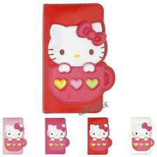 HELLO KITTY Cup Diary Wallet Flip Cover for iPhone 12 11 Pro XS Max mini XR Case