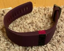 Fitbit Charge HR Heart Rate Activity Wristband Tracker Purple Medium NO CHARGER