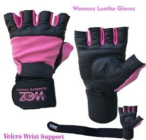 Women Gym Gloves Weight Lifting Gloves Leather Slim Training Exercise Fitness