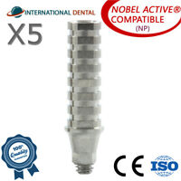 5 Titanium Temporary Abutment With Hex (NP) Nobel Biocare Active Dental Implant