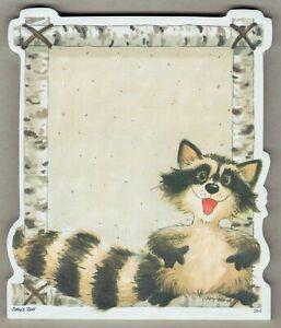 Suzy's Zoo Note Pad Raccoon Notepad Acid Free Sheets