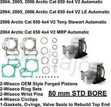 WISECO 2007 650 H1 4x4 Auto TRV Plus PISTON RING SET 3858XS Arctic Cat