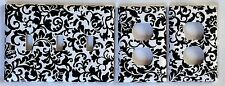Damask Scroll 3 Light Switchplate /Oulet Covers