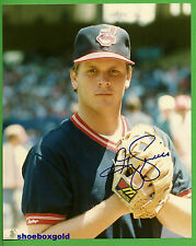 GREG SWINDELL,  Signed 8X10 B&W Photo COA,  CLEVELAND INDIANS