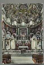 vecchia cartolina ricordo di pompei con immagine madonna e' rovinata