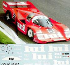 Porsche 962 Brun LUI #5 1:24 Pegatina Adhesivo