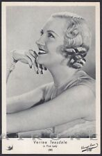 VERREE TEASDALE 01 ATTRICE ACTRESS CINEMA MOVIE Cartolina Edizione ELAH n° 38