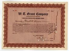 William T. Grant - W. T. Grant Company Stock
