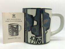 Royal Copenhagen BODIL BUCH 24 oz Large 1975 Annual YEAR MUG 925 (RF736)