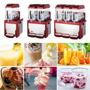 Commercial 1/2/3 Tank Frozen Drink Slush Slushy Making Machine Smoothie Maker