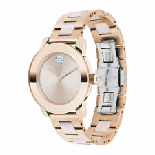 New Movado Bold Rose Gold-Tone Stainless Steel 36mm Women's Watch 3600639