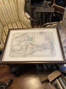 Antique map Cape Cod Martha's Vineyard Nantucket Barnstable