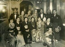 Ocean Liner Ile de France Japanese Dance Ballet Actors ? Old Photo 1930