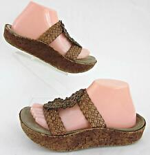 RARE! Earth Couture 'Tangy' Cork Platform Sandals Honey Brown Sz 8.5B