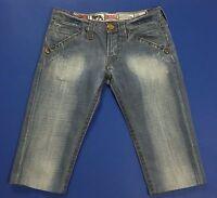 Lonsdale jeans canary shorts bermuda donna blu W26 tg 40 usati denim hot T2137