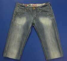 Lonsdale jeans canary shorts bermuda donna blu W26 tg 40 usati denim hot T2137