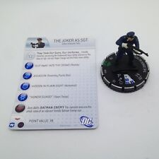 Heroclix The Dark Knight Rises set The Joker as Sgt. #020 Uncommon figure w/card