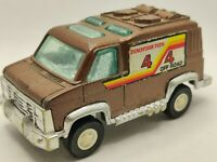 Vintage 1976 Tootsie Toy Van Off Road Brown 4 Inches Collectible