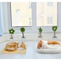 Lifelike Animated Breathing Stuffed Pet Cat Plush Sleep Toy Kids Gift Home Decor
