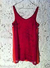 Heimstone Robe mi longue soie rose marbre orange