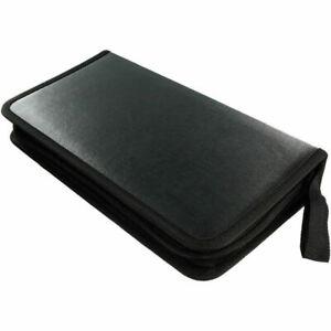 Black 80 Disk CD DVD DJ Portable Wallet Storage Organizer Disc Holder Case Album