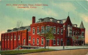 Postcard Hotel & Opera House, Soldiers' Home, Leavenworth, Kansas