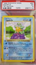 PSA 5 - 1st Edition Squirtle - Pokemon Base Set 1999 - 63/102 - EX - Shadowless