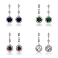Luxury Dark Blue Green Red White Sparke Shiny  Queen Design Stud Drop Earrings