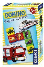 Kosmos Domino Bagger Lok & Co. Reise und Kompaktspiele Kinder Spielzeug