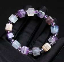 Quartz Crystal Bracelet Aaa 8.6*9mm Natural Color Fluorite