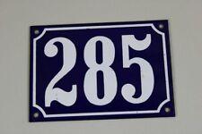 Émaillé Signe Dièse House - Email Bouclier No. 285 - Bleu/Blanc - 10x14/S280