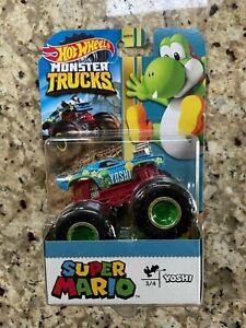 Hot Wheels Monster Trucks Super Mario YOSHI Die-cast Truck Vehicle