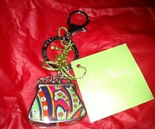NWT Vera Bradley Kisslock Venetian Key Clip Key Ring Chain *Cute*